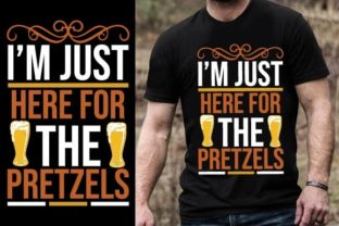 Print on Demand: I'm Just Here for the Pretzels Graphic Graphic Templates By Design Online Store