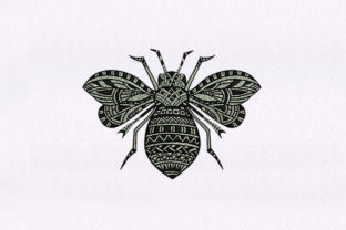 Monotone Bee Bugs & Insects Embroidery Design By StitchersCorp