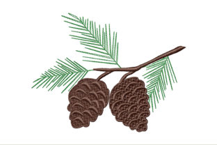 Pine Cone Floral & Garden Embroidery Design By ArtDigitalEmbroidery
