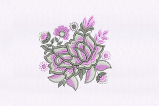 Pink and White Flowers Bouquets & Bunches Embroidery Design By StitchersCorp