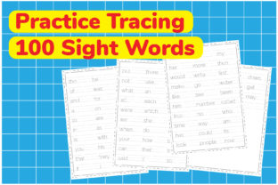 Practice Tracing 100 Sight Words Graphic Teaching Materials By Kids Zone