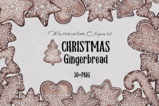 Print on Demand: Watercolor Christmas Gingerbread Graphic Illustrations By SirenaArt