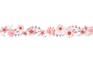 Print on Demand: Watercolor Flower Illustration Clipart Graphic Illustrations By craftshop