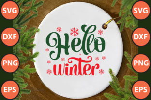 Print on Demand: Hello Winter Svg Cut File Graphic Print Templates By hossainfabrica