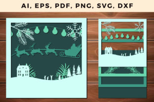 Print on Demand: Multi Layer Christmas Design 3d SVG File Graphic 3D SVG By NGISED