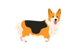 Corgi with Stubby Tail Dogs Craft Cut File By Creative Fabrica Crafts