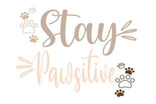 STAY PAWSITIVE Dogs Craft Cut File By Creative Fabrica Crafts