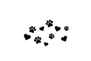 Paw Print and Heart Dogs Craft Cut File By Creative Fabrica Crafts 2