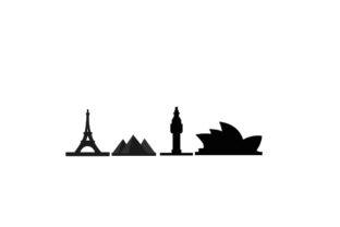 World Landmark Silhouettes Designs & Drawings Craft Cut File By Creative Fabrica Crafts 1