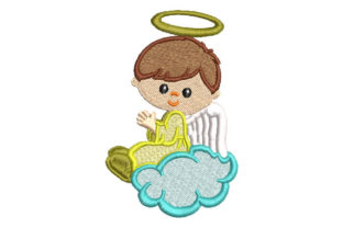 Angel Child Praying Babies & Kids Embroidery Design By Embroiderypacks