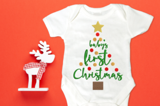 Baby's First Christmas Tree Christmas Embroidery Design By DesignedByGeeks