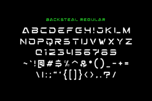 Print on Demand: Backsteal Decorative Font By ahweproject 2