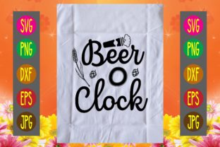 Print on Demand: Beer O Clock Graphic Print Templates By printSVG