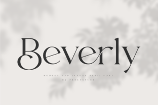 Print on Demand: Beverly Serif Font By Pen Culture