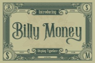 Print on Demand: Billy Money Display Font By Alit Design