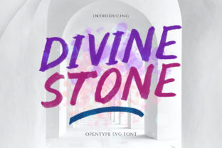 Print on Demand: Divine Stone Display Font By letterhend 1