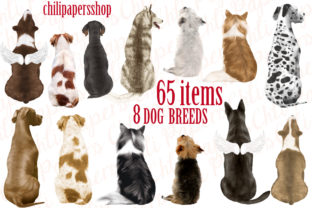 Print on Demand: Dogs Clip Art,Dog Breeds Clipart Graphic Illustrations By ChiliPapers