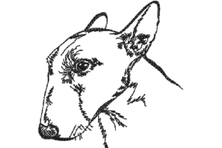 English Bull Terrier Dogs Embroidery Design By sketch2stitch