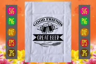 Print on Demand: Good Friends Great Beer Graphic Print Templates By printSVG