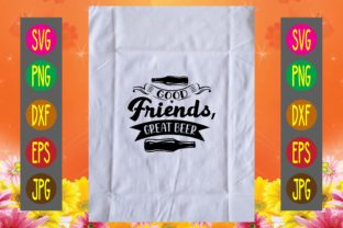 Print on Demand: Good Friends, Great Beer Graphic Print Templates By printSVG
