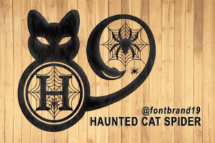 Print on Demand: Haunted Cat Spider Decorative Font By fontbrand19