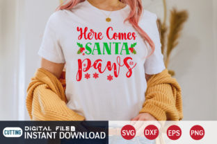 Here Come Santa Paws Svg Graphic Print Templates By FunnySVGCrafts