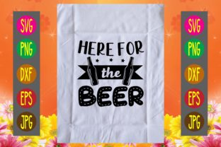 Print on Demand: Here for the Beer Graphic Print Templates By printSVG