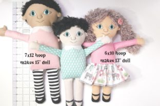 ITH Rag Doll Prudence Toys & Games Embroidery Design By Ballyhoo Creations