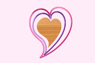 Print on Demand: Love Outline Valentine's Day Embroidery Design By setiyadissi