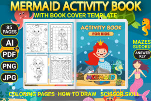 Print on Demand: Mermaid Activity Pages with Book Cover Graphic Coloring Pages & Books Kids By Simran Store