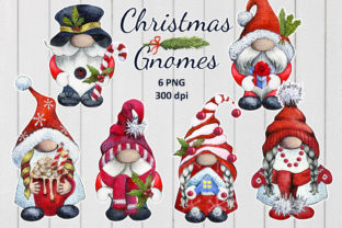 Merry Christmas Gnomes Graphic Illustrations By WatercolorWine
