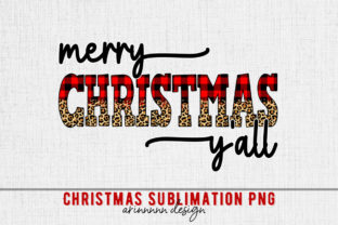 Print on Demand: Merry Christmas Y All Sublimation Graphic Print Templates By Arinnnnn Design