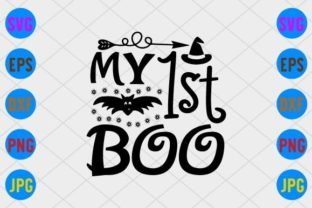 My 1st Boo Graphic Print Templates By craftSVG