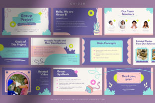 Print on Demand: Playful Group Project Presentation Graphic Presentation Templates By peterdraw
