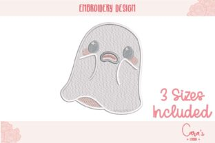 Scary Ghost Halloween Embroidery Design By carasembor