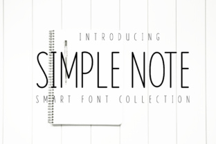 Print on Demand: Simple Note Sans Serif Font By Goodrichees
