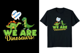 Print on Demand: We Are Dinosaurs Biggest Besties T-shirt Graphic Print Templates By Fabulous Amazon Tees