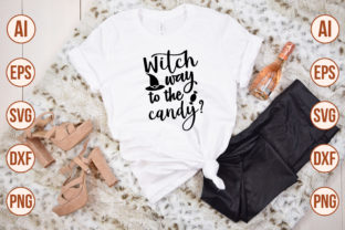 Print on Demand: Witch Way to the Candy-SVG Graphic Crafts By nirmal108roy