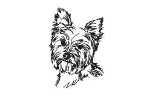 Yorkshire Terrier Dog Dogs Embroidery Design By sketch2stitch