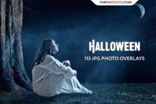 113 Halloween Photo Overlays Set Graphic Actions & Presets By PhotoEffects.Store