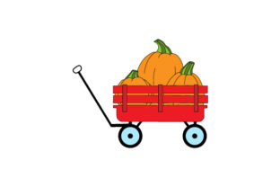 Wagon Filled with Pumpkins Thanksgiving Craft Cut File By Creative Fabrica Crafts