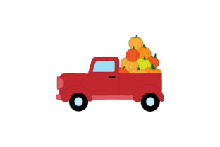 Pickup Truck Filled with Pumpkins Thanksgiving Craft Cut File By Creative Fabrica Crafts