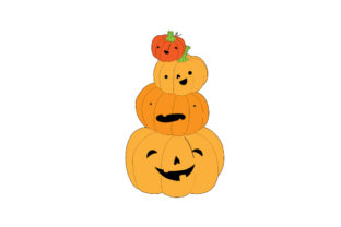 Stacked Pumpkins Halloween Craft Cut File By Creative Fabrica Crafts