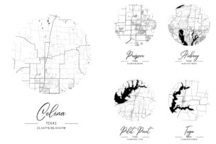 Print on Demand: Black Water Custom City Map Graphic Photos By phonecaseshop93