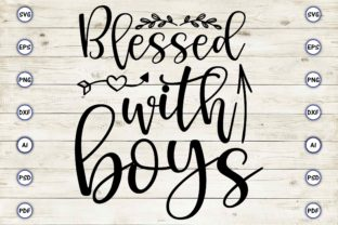 Blessed with Boys Graphic Print Templates By Craftartdigital21