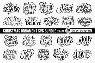 Christmas Ornament SVG Bundle Vol.4 Graphic Crafts By CraftlabSVG