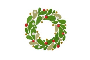 Christmas Wreath Christmas Embroidery Design By Thread Treasures Embroidery