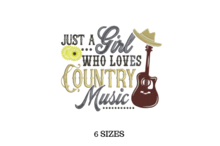 Country Music Music Embroidery Design By SVG Digital Designer
