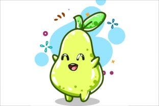 Cute Pear Illustration Hand Drawing Graphic Illustrations By neves.graphic777