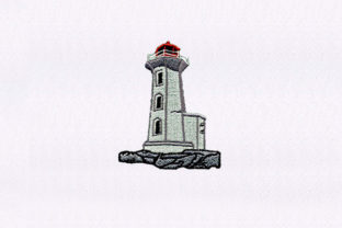 Detailed Lighthouse House & Home Embroidery Design By StitchersCorp